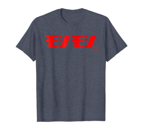 Cool Funny Japanese Katakana Shirt - Moshi Moshi - Heather Blue Mens