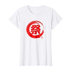 Japanese Kanji T-Shirt – Matsuri – White Womens