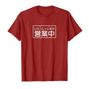 Irasshaimase We're Open for Business Japanese Shirt - Cranberry Mens