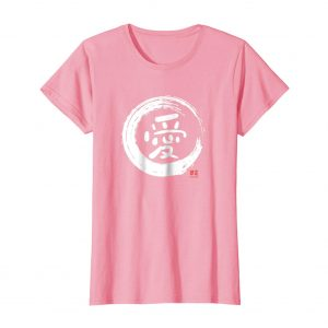 Love Japanese Kanji Shirt – Pink Womens
