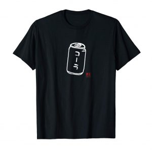 Japanese Katakana Cola Shirt - Black Mens