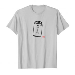 Japanese Katakana Cola Shirt - Silver Mens