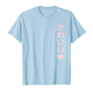 Kawaii Japanese Shirt - Baby Blue Mens