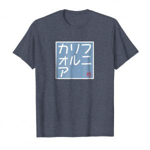 California Japanese Katakana T-Shirt - Heather Blue Mens