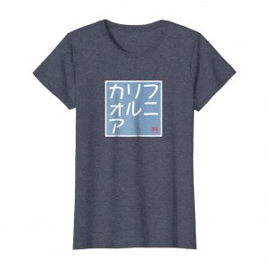 California Japanese Katakana T-Shirt – Heather Blue Womens