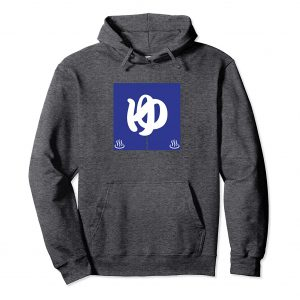 Blue Noren Curtain Japanese Hoodie - Dark Heather