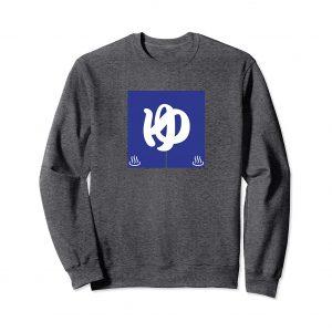 Blue Noren Curtain Japanese Sweatshirt - Dark Heather