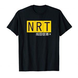 NRT Narita Airport Code Japanese T-Shirt - Black Mens
