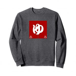 Red Noren Curtain Japanese Sweatshirt - Dark Heather